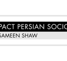 Compact Persian Sociopath Sticker