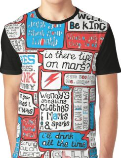 David Bowie Lyrics Typography Graphic T-Shirt