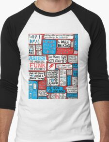 David Bowie Lyrics Typography Men's Baseball ¾ T-Shirt