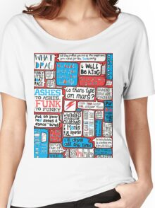 David Bowie Lyrics Typography Women's Relaxed Fit T-Shirt