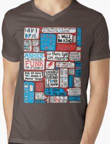David Bowie Lyrics Typography Mens V-Neck T-Shirt
