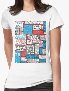 David Bowie Lyrics Typography Womens Fitted T-Shirt