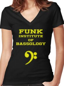 Funk Institute of Bassology Women's Fitted V-Neck T-Shirt