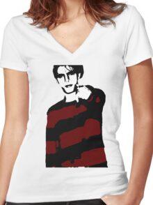 Bradberry - ONE:Print Women's Fitted V-Neck T-Shirt