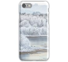 Trees in white iPhone Case/Skin