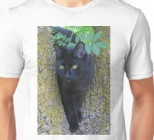 Black Cat In A Tree Unisex T-Shirt