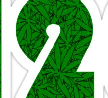 420 Weed Leaf Pattern Sticker