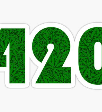 420 Weed Leaf Pattern Sticker