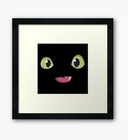 Toothless Night Furry Framed Print
