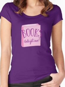 Books delight me Women's Fitted Scoop T-Shirt