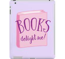 Books delight me iPad Case/Skin
