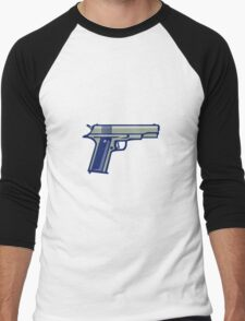 1911 Semi-Automatic Pistol Side Retro Men's Baseball ¾ T-Shirt