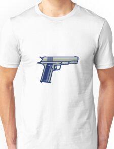 1911 Semi-Automatic Pistol Side Retro Unisex T-Shirt
