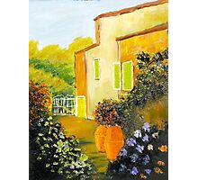 Tuscany Courtyard Photographic Print