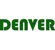 Denver Colorado Weed Leaf Pattern Photographic Print
