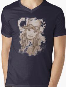 Steampunk Girl Mens V-Neck T-Shirt