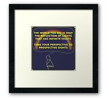 Thought Man - World Framed Print
