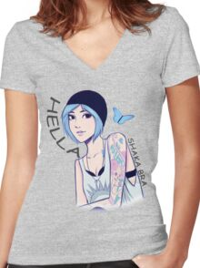 Hella Chloe Price  Women's Fitted V-Neck T-Shirt