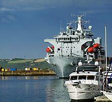 RFA Argus at Falmouth Docks by Rod Johnson