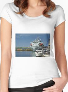RFA Argus at Falmouth Docks Women's Fitted Scoop T-Shirt