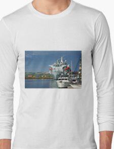 RFA Argus at Falmouth Docks Long Sleeve T-Shirt