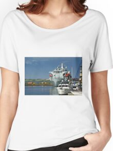 RFA Argus at Falmouth Docks Women's Relaxed Fit T-Shirt