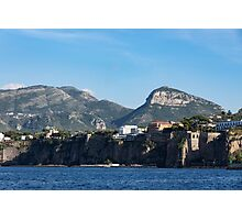 Sailing to Sorrento, Perched Atop Imposing Cliffs on the Bay of Naples, Italy Photographic Print