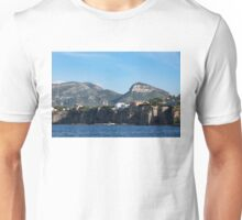 Sailing to Sorrento, Perched Atop Imposing Cliffs on the Bay of Naples, Italy Unisex T-Shirt
