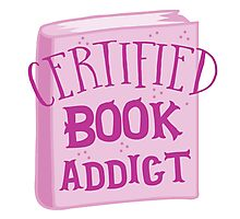 CERTIFIED book addict Photographic Print