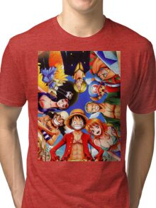 One Piece: StrawHat Pirates Tri-blend T-Shirt