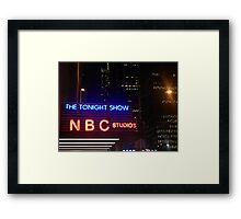 The Tonight Show at Rockefeller Center Framed Print