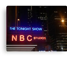 The Tonight Show at Rockefeller Center Canvas Print