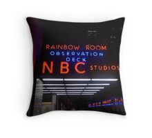Rockefeller and Radio City in the Light of Night Throw Pillow