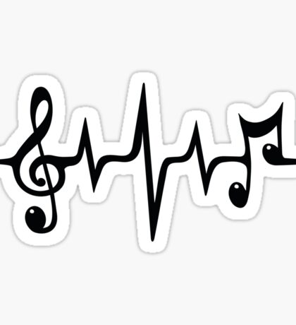 Music Pulse, Notes, Clef, Frequency, Wave, Sound, Dance Sticker