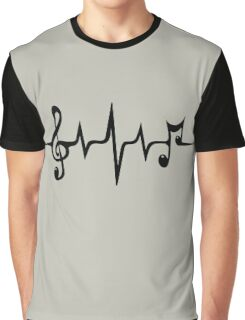 Music Pulse, Notes, Clef, Frequency, Wave, Sound, Dance Graphic T-Shirt