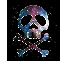 Space Pirate, Skull, Crossbones, Captain, Bone, Anime, Comic Photographic Print