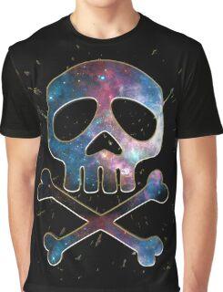Space Pirate, Skull, Crossbones, Captain, Bone, Anime, Comic Graphic T-Shirt