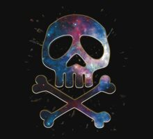 Space Pirate, Skull, Crossbones, Captain, Bone, Anime, Comic Baby Tee