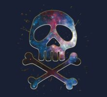 Space Pirate, Skull, Crossbones, Captain, Bone, Anime, Comic One Piece - Short Sleeve