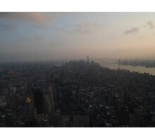 Sunset over the Big Apple Photographic Print