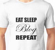 Eat Sleep Blog Repeat Unisex T-Shirt