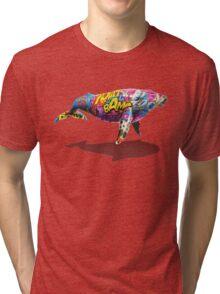 Tagged Whale Tri-blend T-Shirt