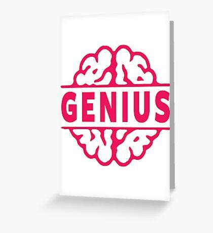 Genius Greeting Card