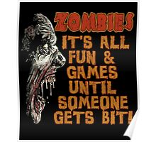Zombie Fun n' Games Poster