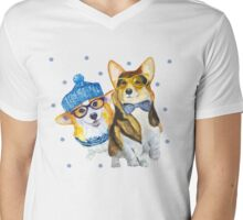two dogs Mens V-Neck T-Shirt