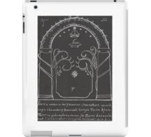 Lord Of The Rings - The Doors Of Durin ( Hand drawn) iPad Case/Skin