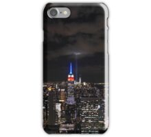 9/11 Tribute in Light from the Top of the Rock, September 2015 iPhone Case/Skin