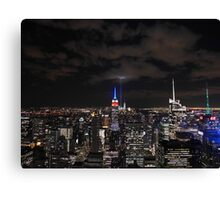 9/11 Tribute in Light from the Top of the Rock, September 2015 Canvas Print
