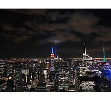 9/11 Tribute in Light from the Top of the Rock, September 2015 Photographic Print