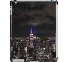 9/11 Tribute in Light from the Top of the Rock, September 2015 iPad Case/Skin